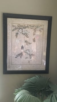 white and black flower painting with black wooden frame Modesto, 95357