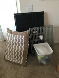 Large dog crate, play pen, bed and toys Fairfax, 22033