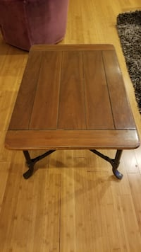 Wooden coffee table with glass surface top  San Mateo, 94403