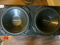 two black Pioneer subwoofers with enclosure Austin, 78747