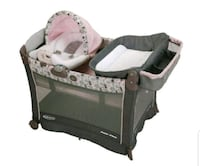 baby's gray and white travel cot Shafter, 93263