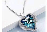 silver and blue gemstone pendant necklace Banning, 92220
