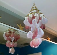 white-and-pink seashell wind chime Houston, 77019