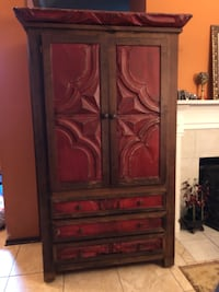 brown wooden cabinet with mirror Houston, 77012
