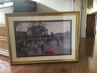 Picture on a wood gold frame  Vaughan, L4H 3J8