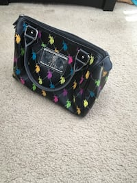 Multi Color Polo Hand Bag Purse Silver Spring