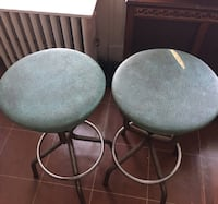 two gray padded bar stools Weehawken, 07086