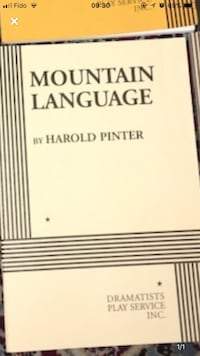 Mountain Language play by Harold Pinter Vaughan, L4L 0A9