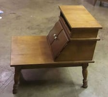 SIDE TABLE WITH CABINET COMPARTMENT.  EXCELLENT CONDITION