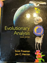 Evolutionary Analysis Fourth Edition book by Freeman and Herron Altoona, 16602