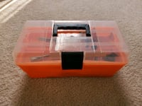 Kids tool box and toy tools