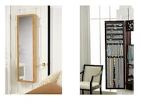 Over-the-Door Jewelry Armoire with Full-Length Mirror District of Columbia