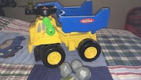 children's yellow and blue tonka dump truck Saint-Eustache, J7R 6R2