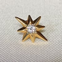 Vintage 14k Gold Diamond Star Pin Ashburn
