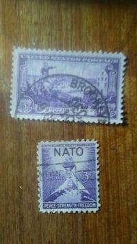2 used stamps Gardena, 90249