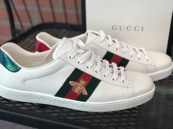 47937ef7d Used GUCCI 'Ace' Bee Green Red Web Men's Sneakers Shoes US 11 / UK Size 10  The box size states size 10G Usually they run 1 size big brand new with box  ...