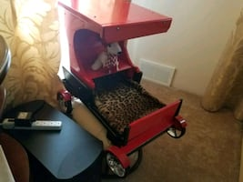 Dog/cat Pet carriage bed on wheels
