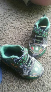 pair of toddlers green-and-black sneakers Grand Rapids, 49505