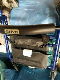 black and blue folding wheelchair 2279 mi