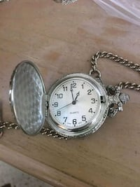 round silver-colored pocket watch Hialeah, 33010