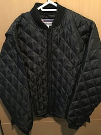 Black zip-up bubble jacket