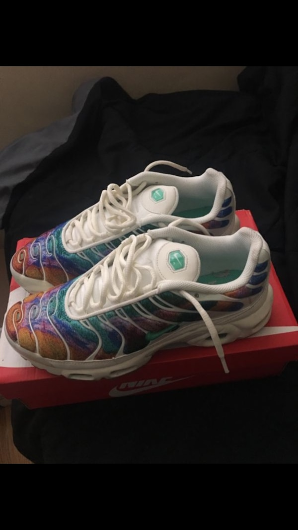 huge discount 1b887 e5c82 Used pair of white-and-blue Nike Foamposite for sale in Piscataway