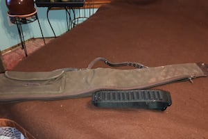 Cloth rifle case and shell belt