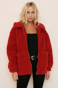 Garage Pixie Sherpa Jacket in Red M/L 3748 km