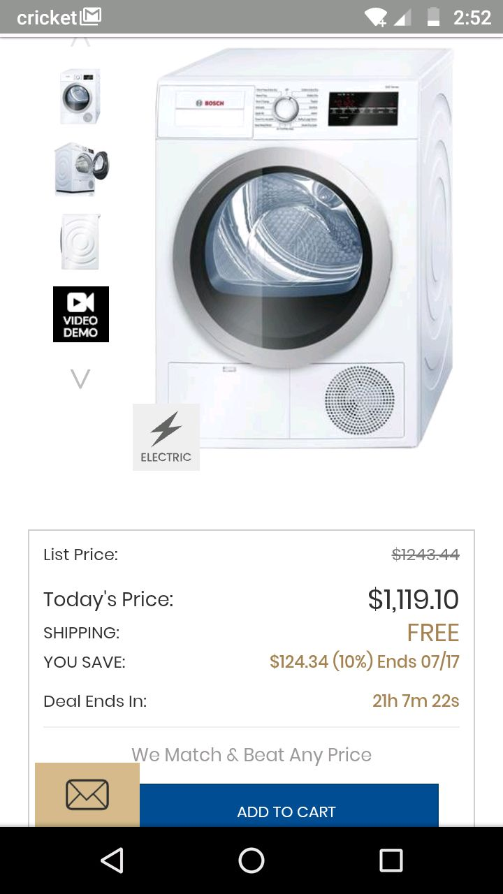 white Siemens front-load washer for sale  Lafayette