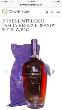 Rare E&J aged 20 years collectible brandy