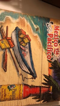 Wooden Beer Sign (Pacifico) Woodlake, 93286