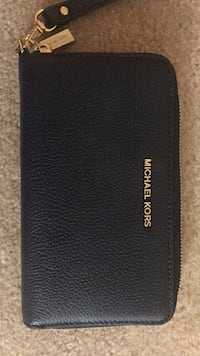 Navy leather michael kors wallet Fairfax