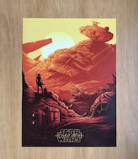 """New STAR WARS: THE FORCE AWAKENS EXCLUSIVE AMC IMAX 9.5"""" X 13"""" POSTER"""