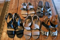 Womens Sandals Size 8 5 pairs  North Fort Myers, 33917
