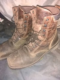 pair of brown leather boots Pekin