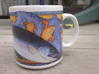 """Vintage Rare 1995 Limited Edition Shannon Cartwright """"King Salmon"""" Cup from Artic Circle Enterprises Winnipeg"""
