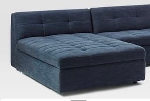 West Elm - Chaise lounge with storage