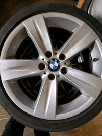 "BMW 18"" RIMS+TIRES $550 O.B.O .255 35 18 ""Winter Tires Available  Toronto, M9C 1C6"