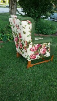 white and pink floral armchair St. Peters, 63376