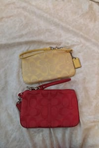Coach Wristlet red and yellow