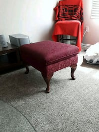 Ottoman Fabric (red) and wood Edmonton, T5M 2E5