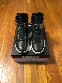 Men's Moschino high top sneakers size 45 (12) paid $600 Washington, 20002