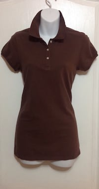 Brown Collared Polo Shirt: Women's Size Small Brampton, L7A