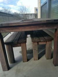 brown wooden table with chair Houston, 77079