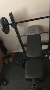 black and gray bench press Enfield, 03748