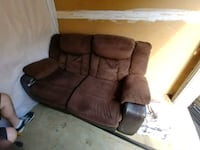 brown suede 3-seat sofa Joint Base Andrews, 20762