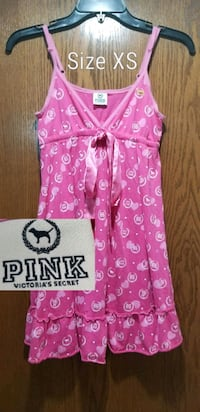 pink and white Hello Kitty print sleeveless dress Sioux Falls, 57106
