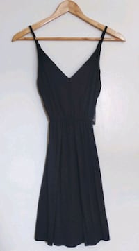 V-neck Black Dress