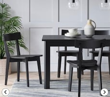IKEA Extendable black dining table*** Like NEW.