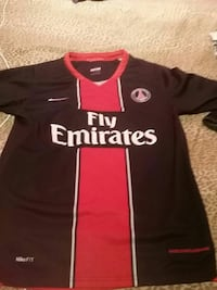 Fly Emirates Nike black and red soccer jersey Terrebonne, J7M 1K4